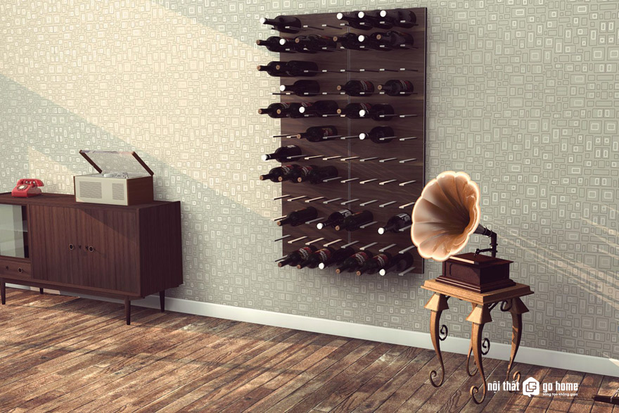 Tủ rượu gỗ công nghiệp acrylic đẹp sang trọng!
