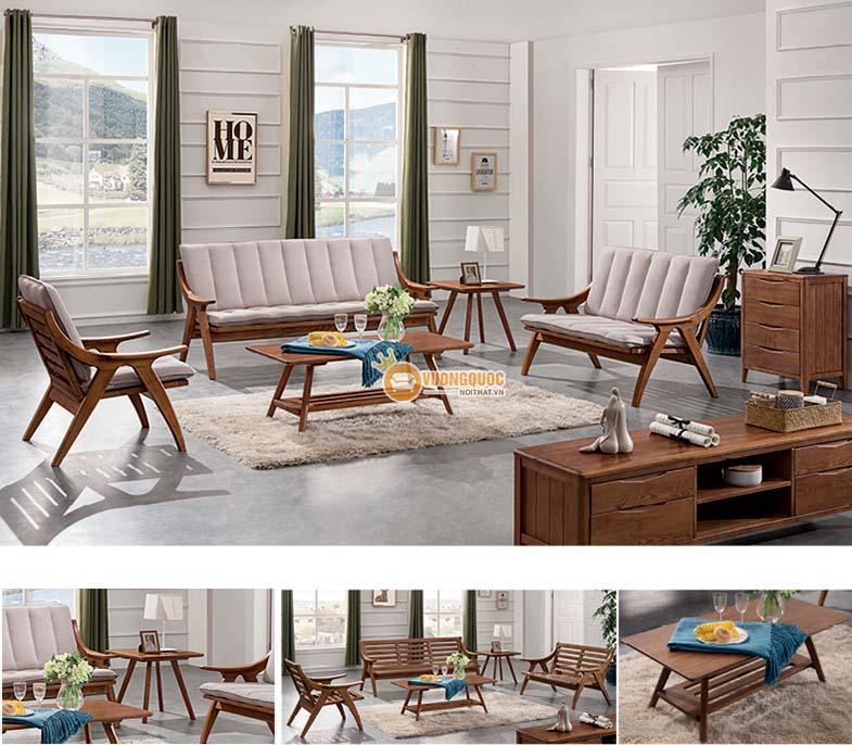 Bàn ghế gỗ phòng khách nhỏ giá rẻ