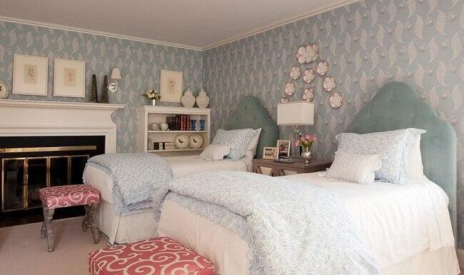 phòng ngủ có 2 giường ngủ