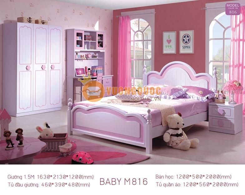 Bộ phòng ngủ công chúa BABY M816