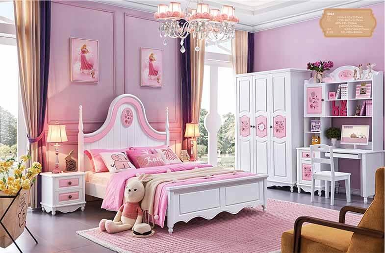 Bộ phòng ngủ công chúa SWEETPINK JY601
