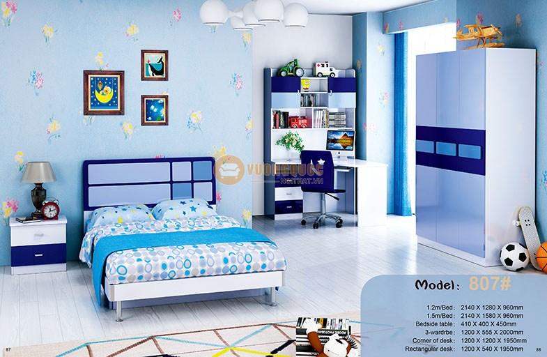 Phòng ngủ cho bé trai nhập khẩu HHM807