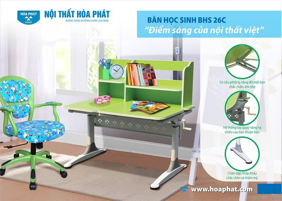 Đặc điểm của bàn học trẻ em Hòa Phát