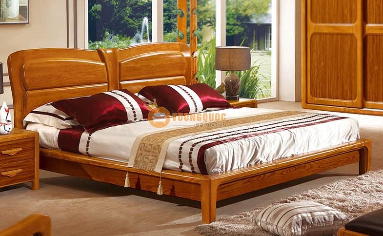 Giường ngủ cao cấp gỗ tự nhiên nhập khẩu Châu Âu