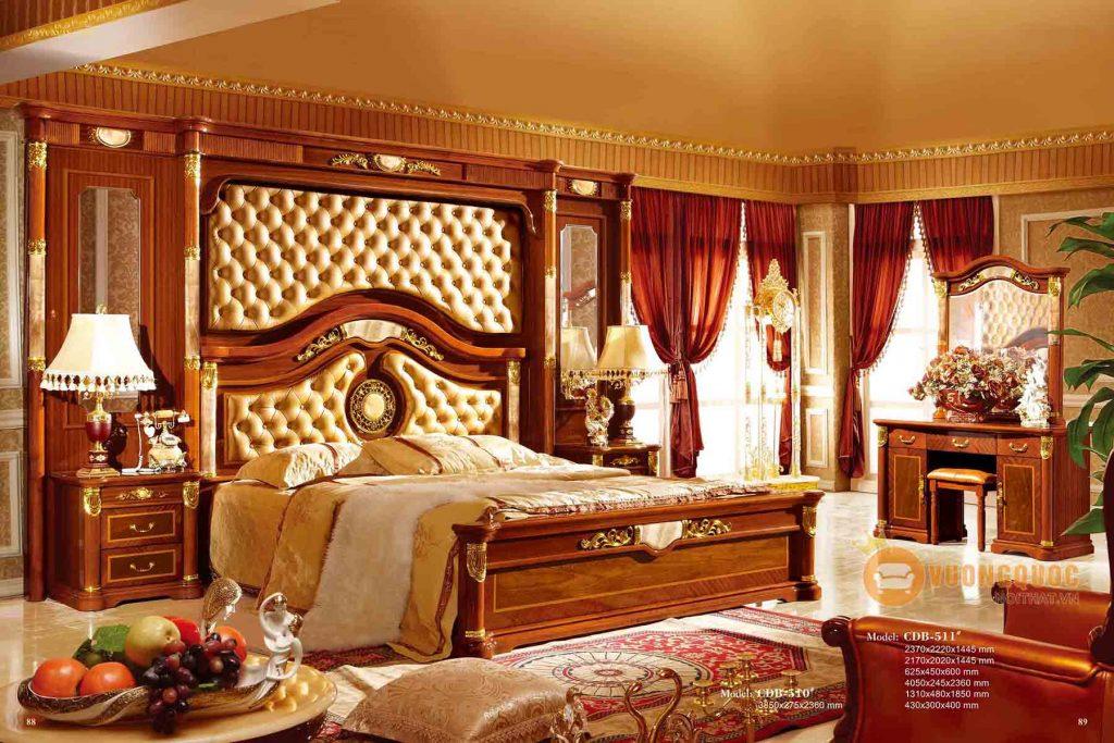 Mẫu giường ngủ kiểu Pháp