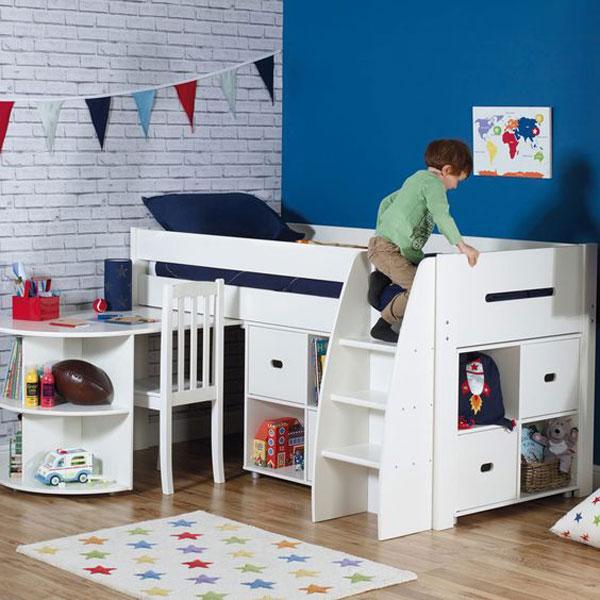 Giường ngủ kết hợp bàn học - kích thích sự phát triển của trẻ