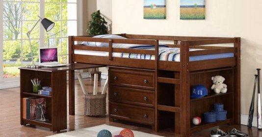Giường ngủ kết hợp bàn học - tiết kiệm chi phí
