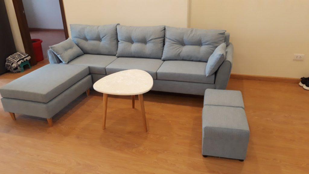 Ảnh thực tế sofa góc của khách hàng đặt mua tại Lương Sơn