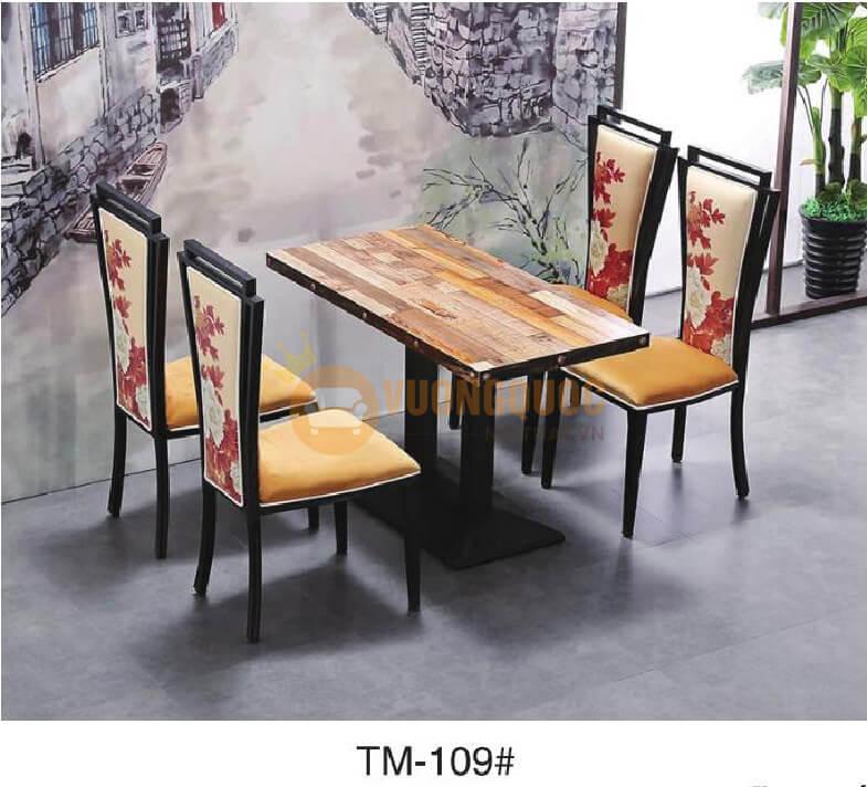 Bàn ghế nhà hàng giá rẻ được đảm bảo về chất lượng