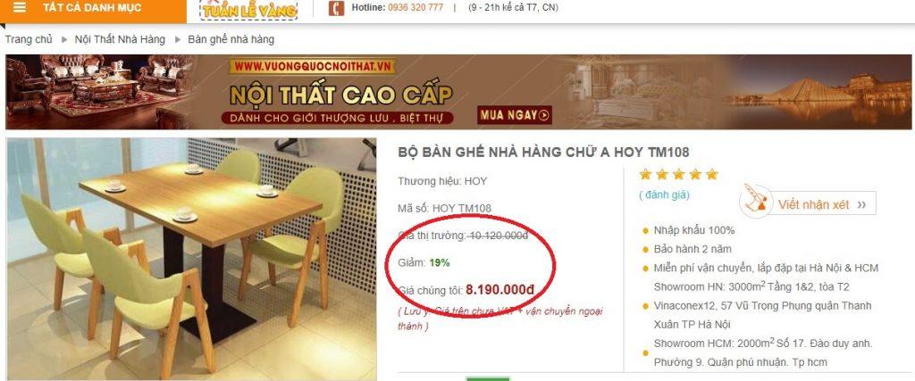 Giá thành rẻ nhất thị trường Hà Nội
