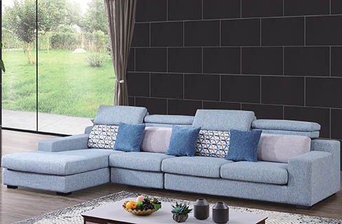 Sofa nỉ cao cấp màu xanh trang nhã