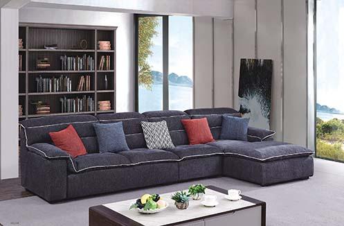 Sofa phòng khách nỉ màu xám sang trọng