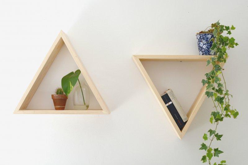 Kệ treo tường bằng gỗ tự nhiên