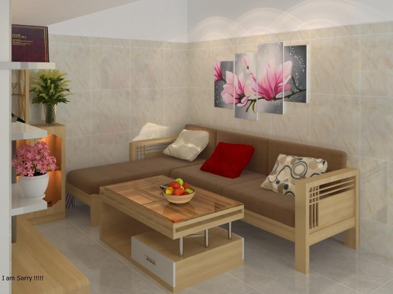 Mẫu bàn ghế gỗ phòng khách nhỏ gọn