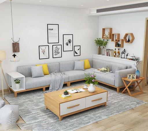 Sofa gỗ công nghiệp có thiết kế hiện đại