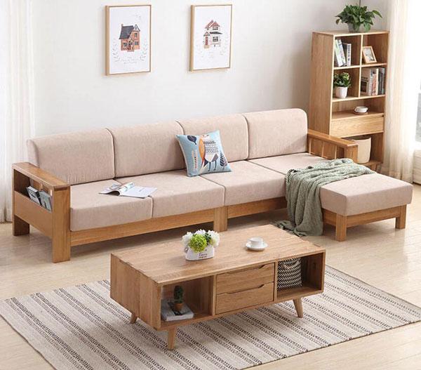 Sofa gỗ công nghiệp dễ dàng vệ sinh