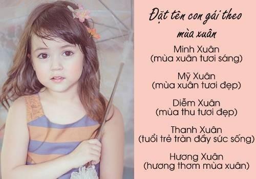 Tên đẹp cho bé gái