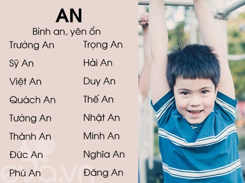 Tên đẹp cho bé trai