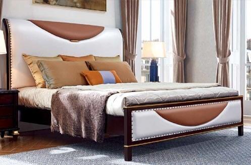 Giường ngủ nhập khẩu kiểu dáng hiện đại TSE301G